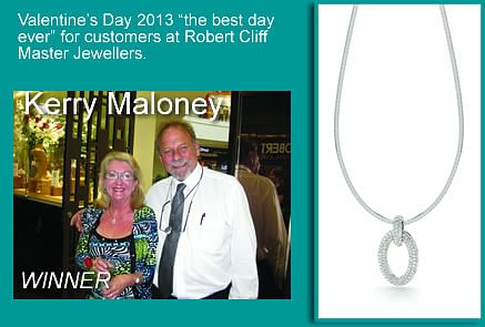 """Valentine's Day 2013 """"the best day ever"""" for customers at Robert Cliff Master Jewellers"""