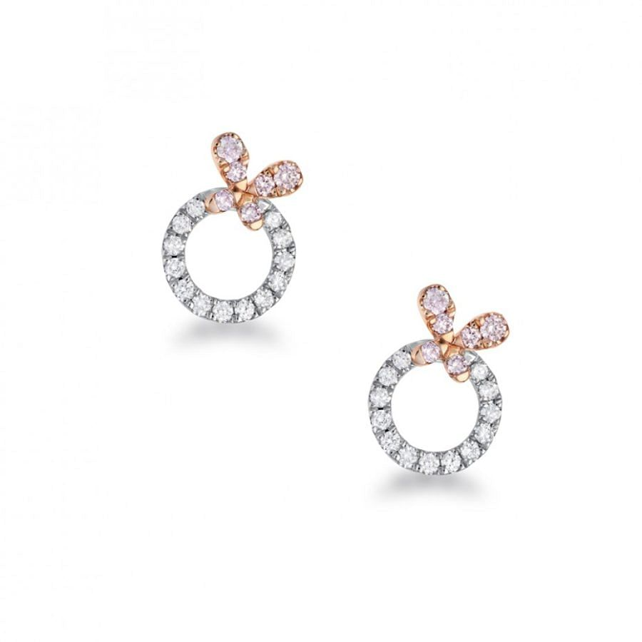 argyle pink diamond earrings