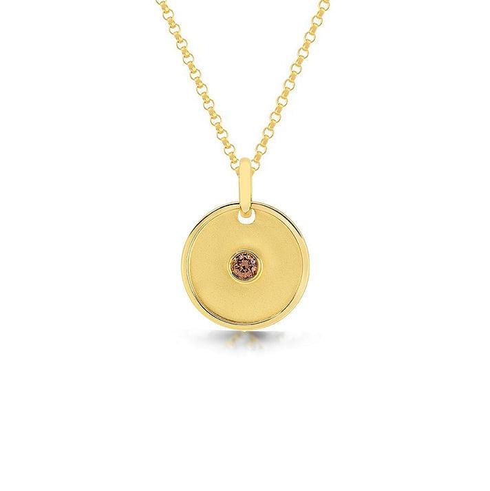 chocolate diamond pendant