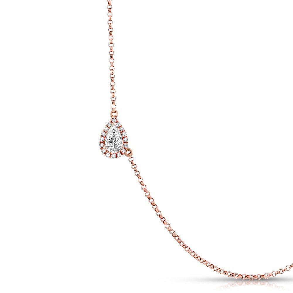 pear cut diamond pendant