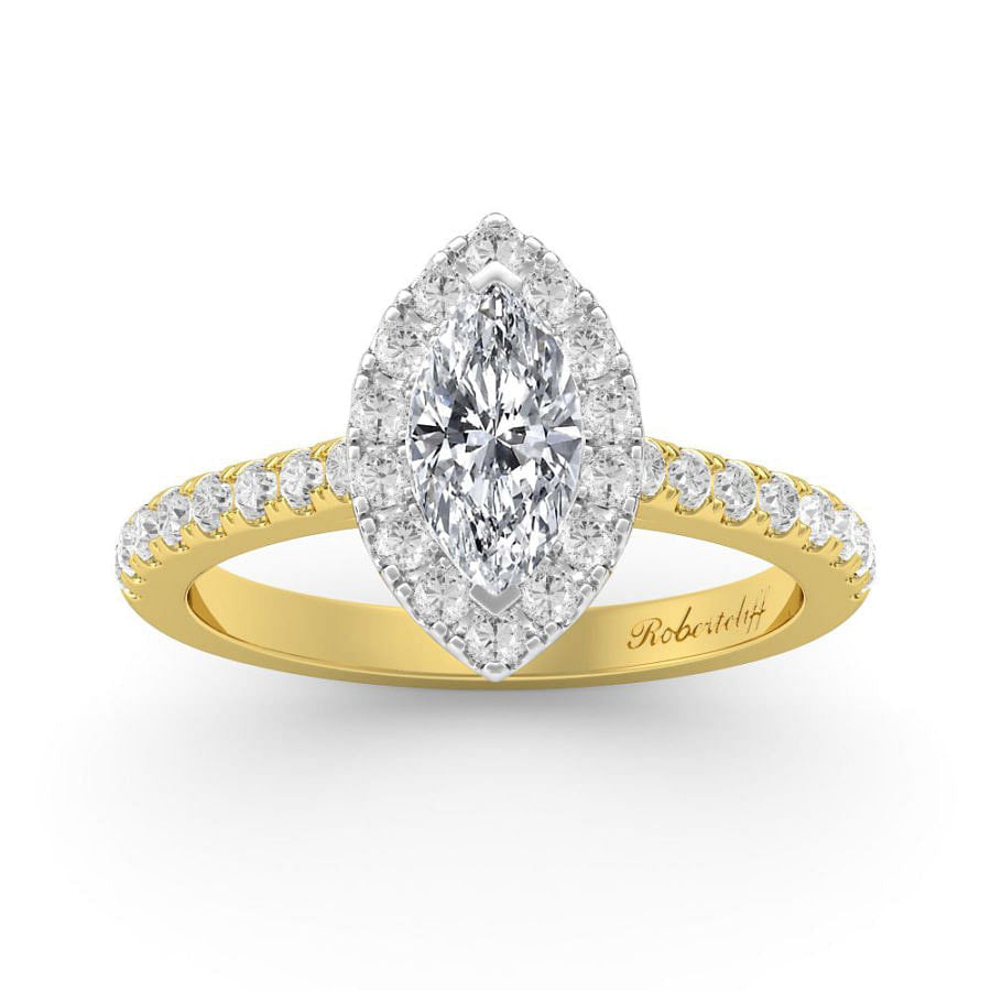 marquise halo engagement ring