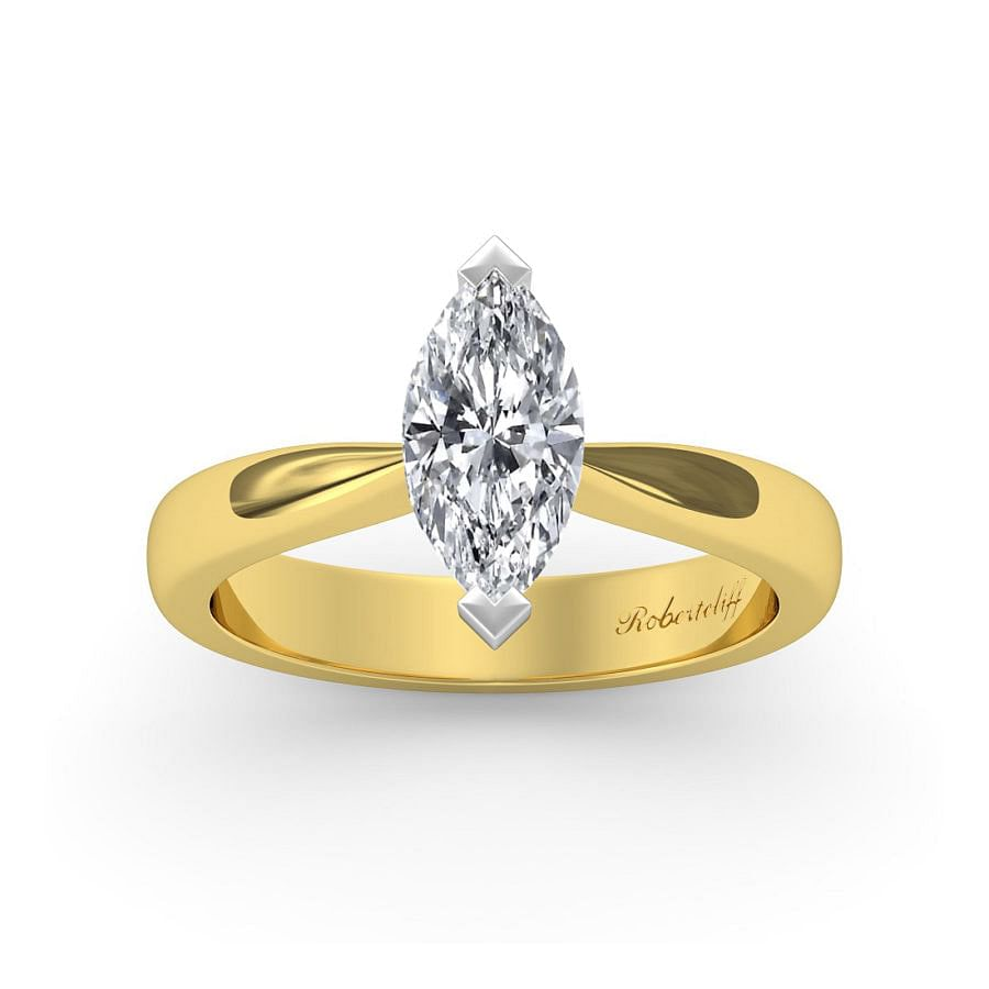 Marquise cut engagement ring.