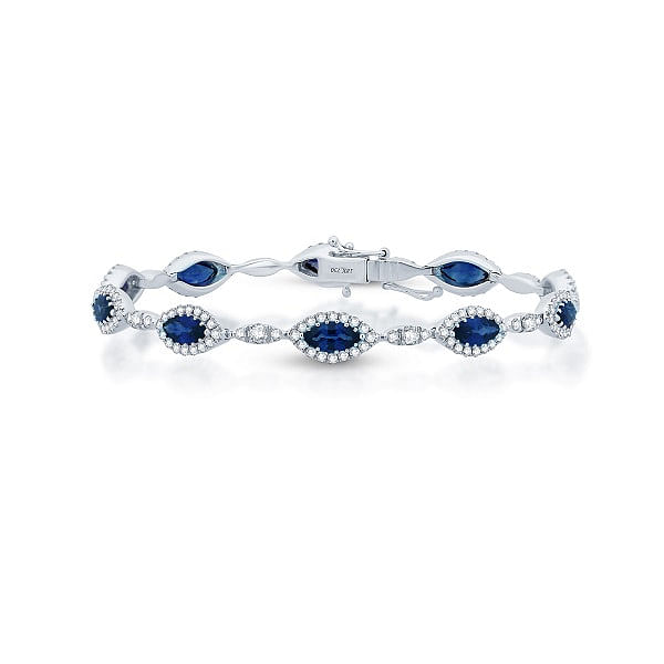 ceylon sapphire tennis bracelet