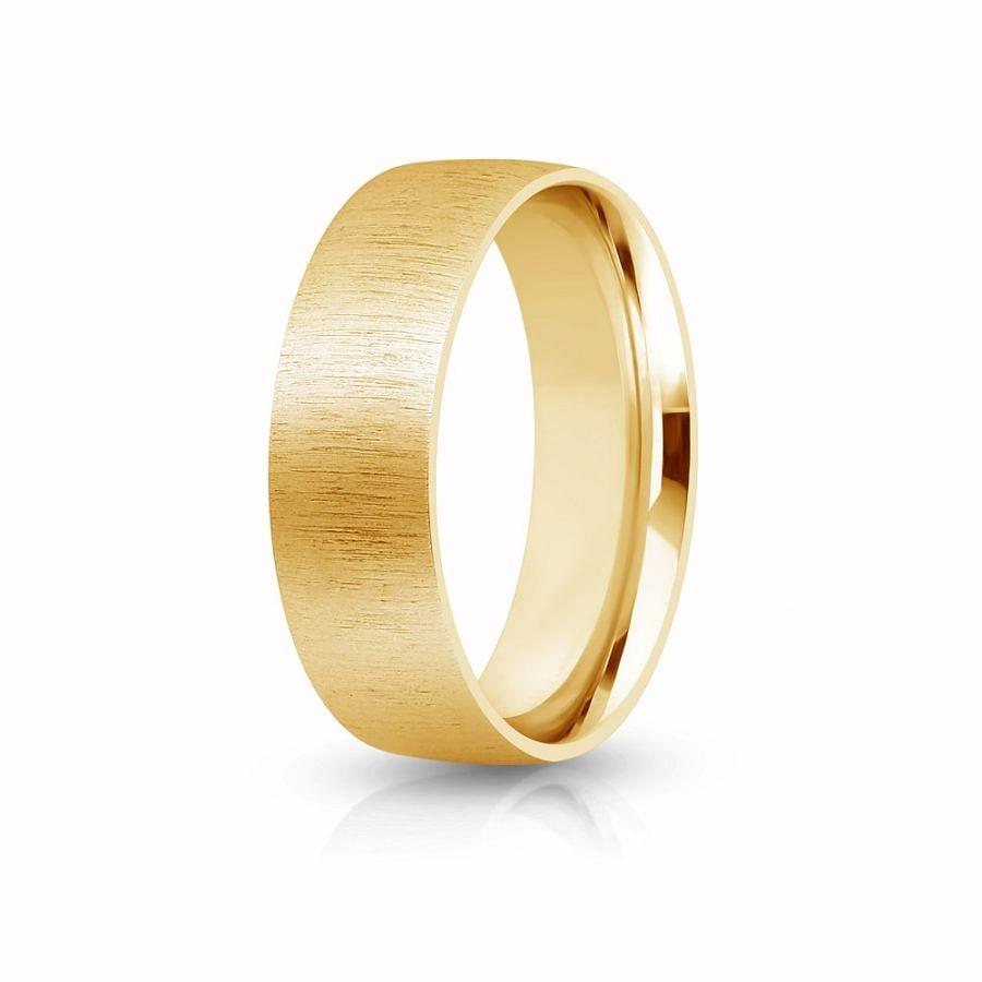 7mm side brushed wedding ring