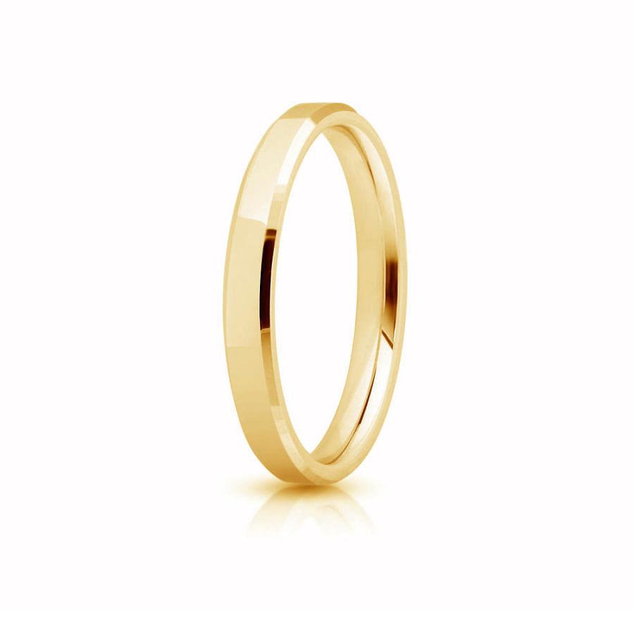 Yellow gold wedding ring.