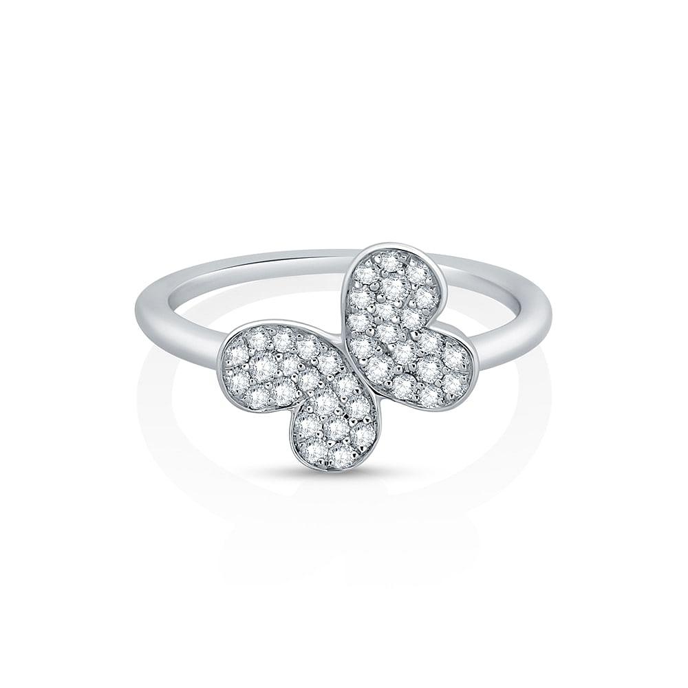 pave set diamond ring