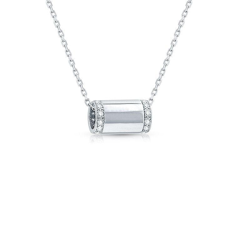 Diamond tube pendant