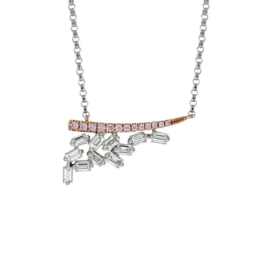 argyle pink diamond necklace